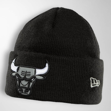 New Era Bonnet Reflect Cuff Knit Chicago Bulls noir