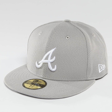 New Era Casquette Fitted Diamond Era Essential Atlanta Braves 59Fifty gris