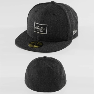 New Era Casquette Fitted Heather Script 59Fifty gris