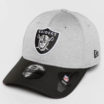 New Era Casquette Flex Fitted Jersey Hex Oakland Raiders gris