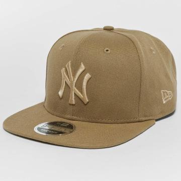 New Era Casquette Snapback & Strapback Canvas NY Yankees 9Fifty beige