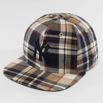 New Era Casquette Snapback & Strapback Spring Plaid NY Yankees 9Fifty brun