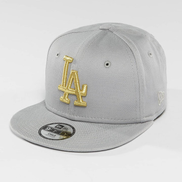 New Era Casquette Snapback & Strapback Golden LA Dodgers 9Fifty gris