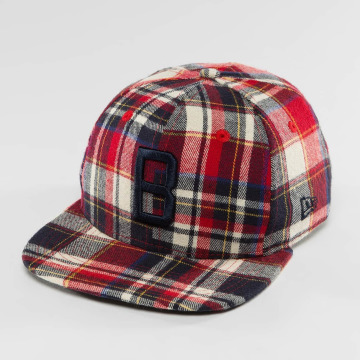 New Era Casquette Snapback & Strapback Plaid Brooklyn Dodgers 9Fifty rouge