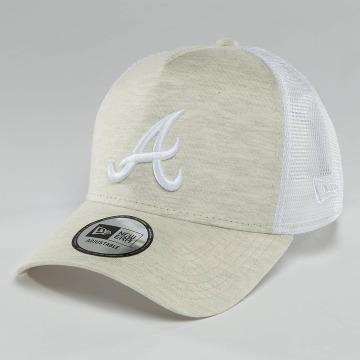 New Era Casquette Trucker mesh Essential Jersey Atlanta Braves beige