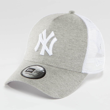 New Era Casquette Trucker mesh Essential Jersey NY Yankees gris