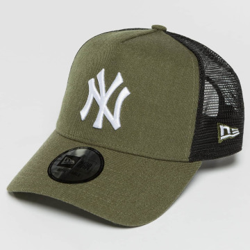 New Era Casquette Trucker mesh Seas Heather NY Yankees olive