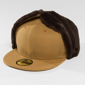 New Era Fitted Cap Premium Classic Dogear 59Fifty braun