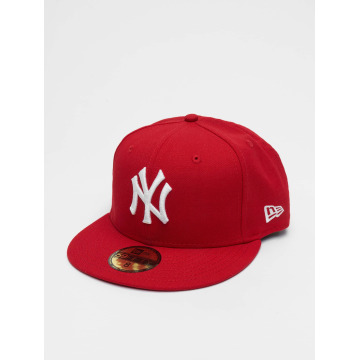 New Era Fitted Cap MLB Basic NY Yankees 59Fifty czerwony