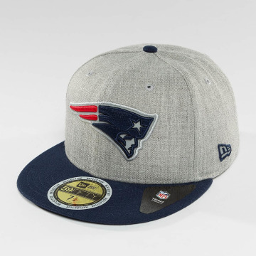 New Era Fitted Cap Reflective Heather New England Patriots grau