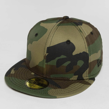 New Era Fitted Cap Script Patch 59Fifty moro