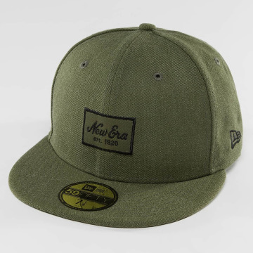 New Era Fitted Cap Heather Script 59Fifty olijfgroen
