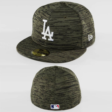 New Era Fitted Cap Engineered Fit LA Dodgers 59Fifty olijfgroen