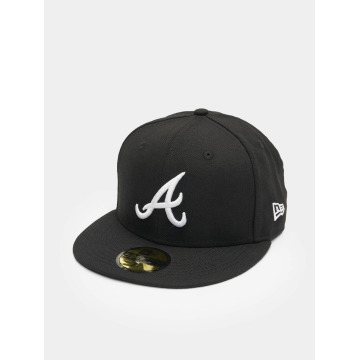 New Era Fitted Cap MLB Basic Atlanta 59Fifty schwarz