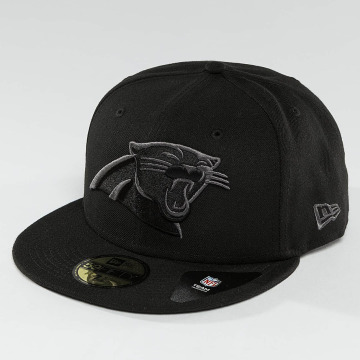 New Era Fitted Cap Black Graphite Carolina Panthers 59Fifty schwarz