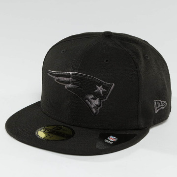 New Era Fitted Cap Black Graphite New England Patriots 59Fifty schwarz