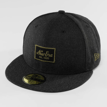 New Era Fitted Cap Heather Script 59Fifty schwarz