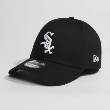New Era Flexfitted Cap Washed Team Colour Chicago White Sox čern