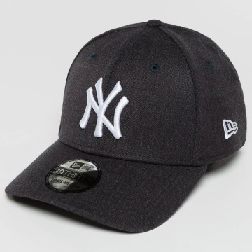 New Era Flexfitted Cap Team Heather NY Yankees niebieski