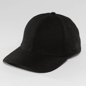 New Era Flexfitted Cap Slub 39Thirty schwarz