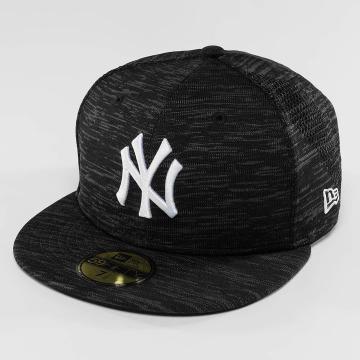 New Era Gorra plana Engineered Fit NY Yankees 59Fifty Cap negro