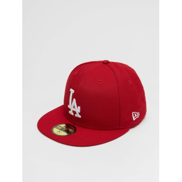 New Era Gorra plana MLB Basic LA Dodgers 59Fifty rojo