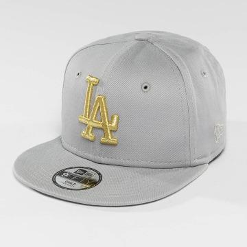 New Era Gorra Snapback Golden LA Dodgers 9Fifty gris