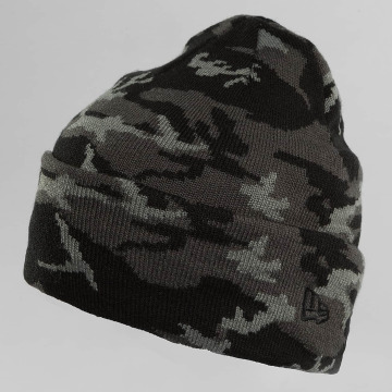 New Era Hat-1 New Era Camo Cuff Beanie black