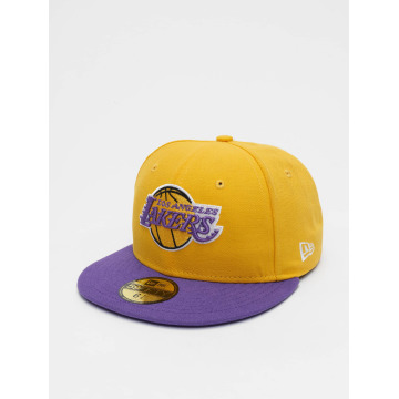 New Era Hip hop -lippikset NBA Basic LA Lakers 59Fifty keltainen