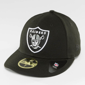 New Era Hip hop -lippikset Team Classic Oakland Raiders 5*9Fitfy Fitted musta