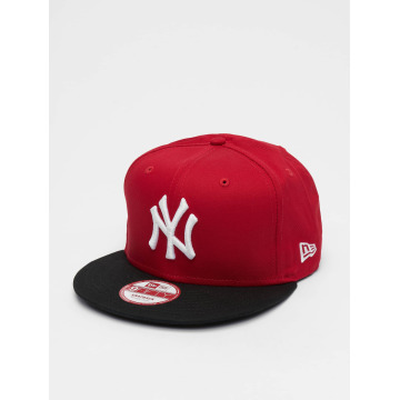 New Era Snapback MLB Cotton Block NY Yankees èervená