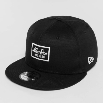 New Era Snapback Cap Script Patch 9Fifty black