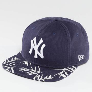 New Era Snapback Cap Sandwash Visor Print NY Yankees blau