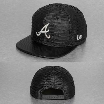New Era snapback cap Leather Wave Atlanta Braves grijs