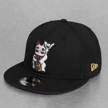 New Era Snapback Caps Cat 9Fifty musta