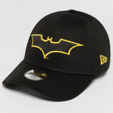 New Era Snapback Caps Charcoal OUTL Batman 9Forty musta