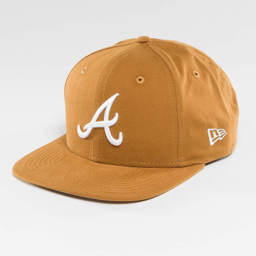 New Era Snapback Caps Atlanta Braves ruskea