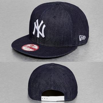 New Era Snapback Caps Denim Basic NY Yankees sininen