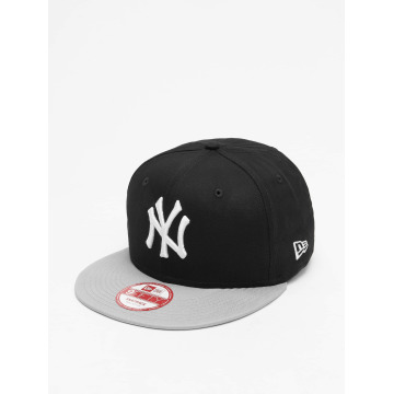 New Era Snapback Caps MLB Cotton Block NY Yankees svart