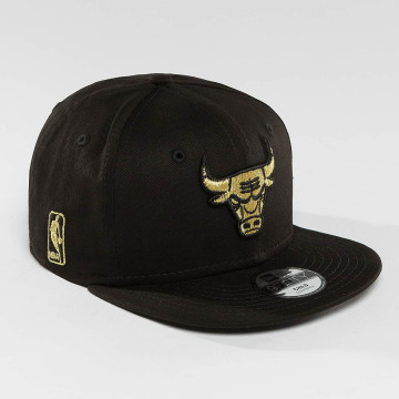 New Era Snapback Caps Golden Chicago Bulls 9Fifty svart
