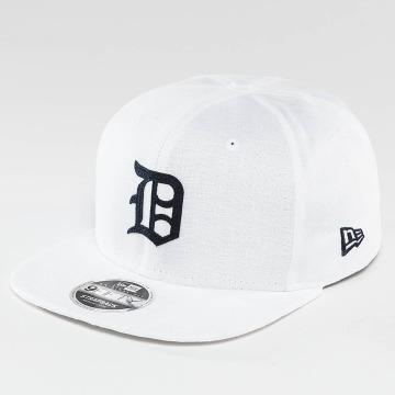 New Era Snapback Caps Linen Felt Detroit Tigers Cooperstown valkoinen