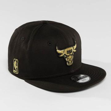 New Era Snapbackkeps Golden Chicago Bulls 9Fifty svart