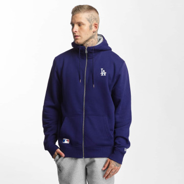 New Era Sweat capuche zippé LA Dodgers bleu