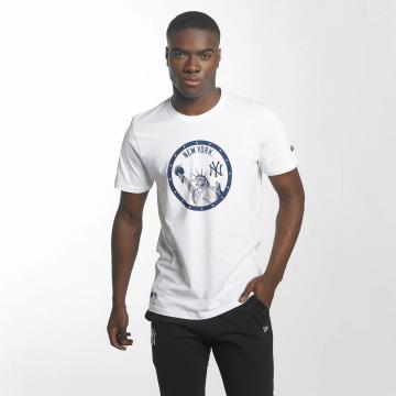 New Era T-Shirt MLB Landmark NY Yankees blanc