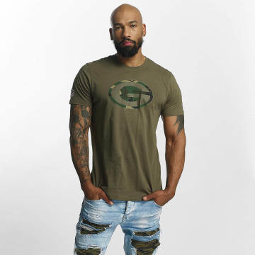 New Era t-shirt NFL Camo Green Bay Packers olijfgroen