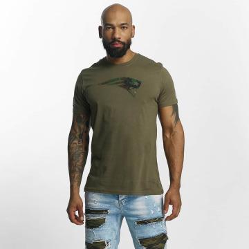 New Era T-Shirty NFL Camo New England Patriots oliwkowy