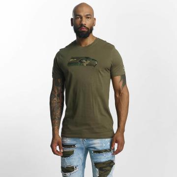 New Era T-Shirty NFL Camo Seattle Seahawks oliwkowy
