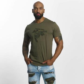 New Era T-Shirty NFL Camo Atlanta Falcons oliwkowy