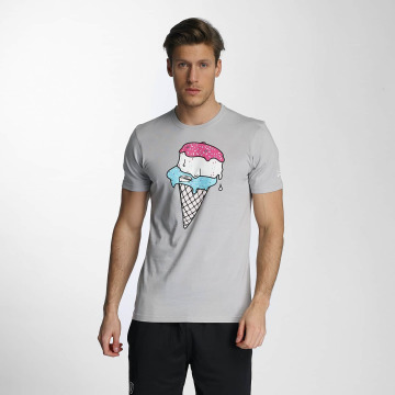 New Era T-Shirty Ice Cream szary