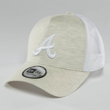New Era Trucker Cap Essential Jersey Atlanta Braves beige